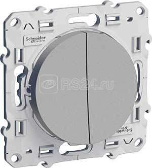Механизм переключателя 2-кл. СП Odace алюм. SchE S53R213 купить в интернет-магазине RS24