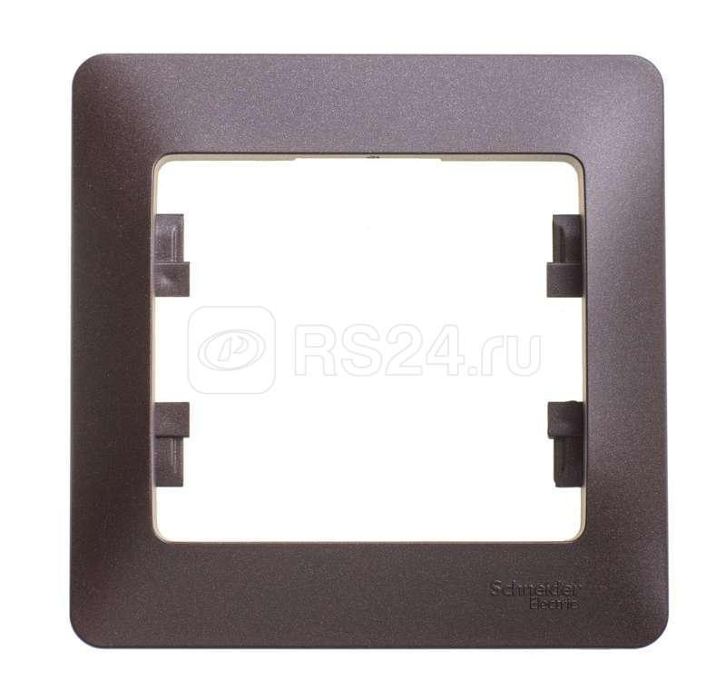 Рамка 1-м Glossa шоколад SchE GSL000801