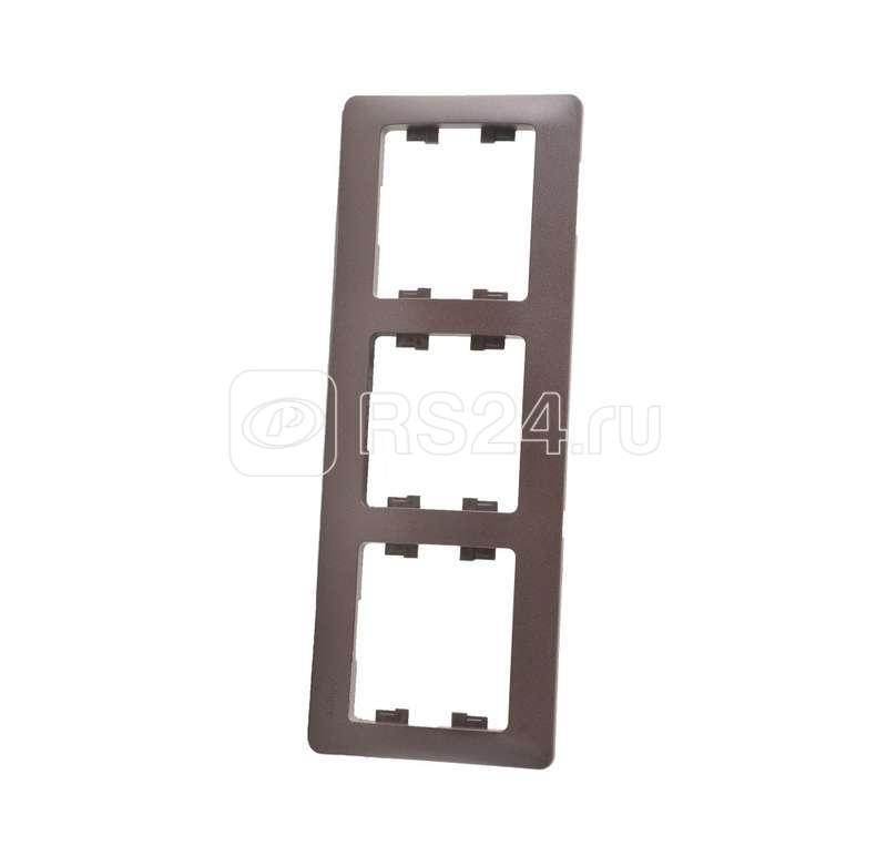 Рамка 3-м Glossa горизонт. шоколад SchE GSL000803