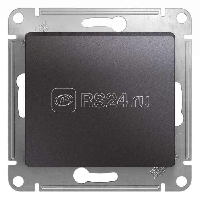 Механизм кнопки нажимной Glossa сх. 1 10AX графит SchE GSL001315 купить в интернет-магазине RS24