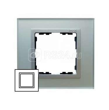 Рамка 1-м Simon82 стекло серебр. Simon 82917-62