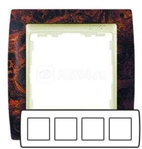 Рамка 4-м Simon82 корень ореха/графит Simon 82845-68