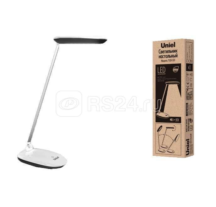 Светильник LED TLD-531 Grey-White/400лм/4500К/Dimmer черн./бел. Uniel UL-00000807 купить в интернет-магазине RS24