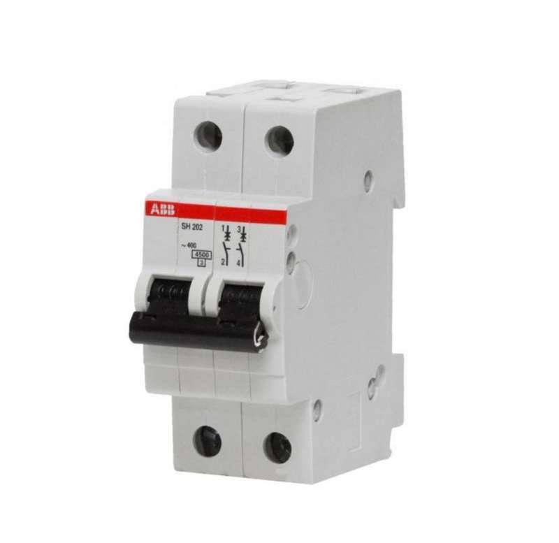 Выключатель автоматический модульный 2п C 6А 6кА SH202 C 6 ABB 2CDS212001R0064