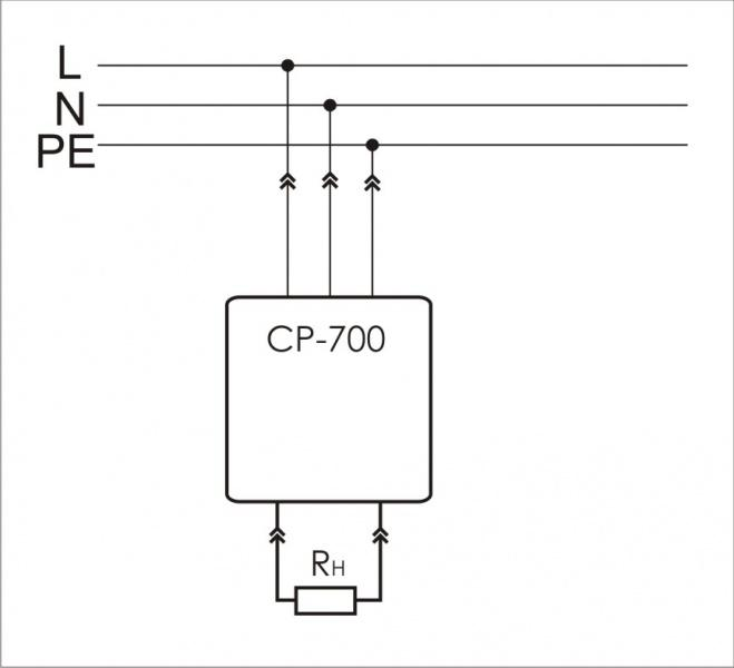 Реле напряжения CP-700 (однофазный; цифровая индикация напряжения тип корпуса вилка-розетка; 150-300В 16А 1NO IP20) F&F EA04.009