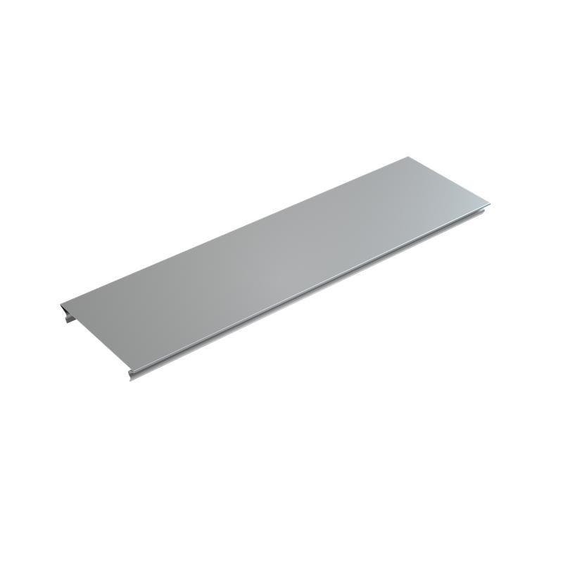 Крышка для лотка осн.400 L3000 сталь 0.7мм KL400х3000 оцинк. КМ LO0551