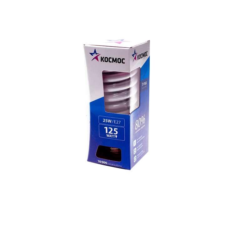 Лампа люминесцентная компакт. SPC 26Вт E27 спиральная 4200К КОСМОС LKsmT2SPC26wE2742
